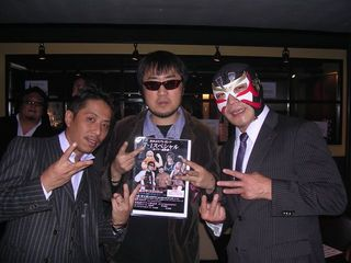 田中社長、二見、サスケ選手