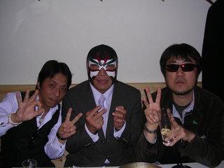 田中社長、サスケ選手、二見