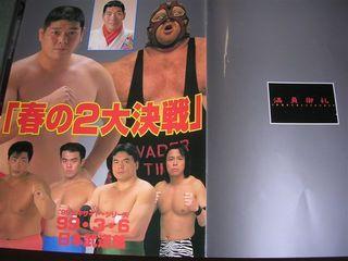 全日本99年3月パンフ